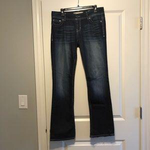 Dark Wash BKE Bootcut Jeans